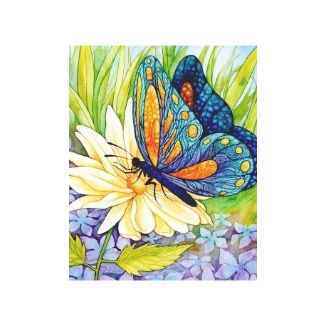 Diamond painting Butterfly on the Flower AZ-1129 Size: 30х38