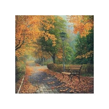 Diamond painting Autumn in the Park AZ-1160 Size: 50х50