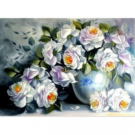 Diamond painting White Roses AZ-1203 Size: 44х60