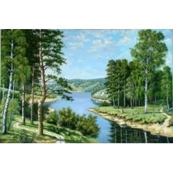 Deimantinis paveikslas Russian Landscape AZ-1237 Dydis: 50x33