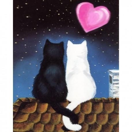 Deimantinis paveikslas Cat Romance AZ-1297 Dydis: 20х25