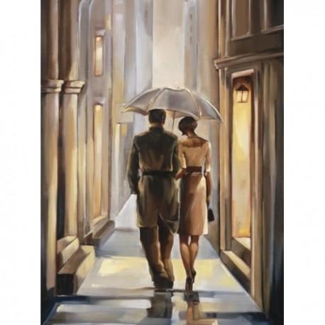 Deimantinis paveikslas 2 Under the Rain AZ-1303 Dydis: 30х40