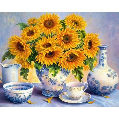 Deimantinis paveikslas Sunflower Bouquet AZ-1366 Dydis: 50х40