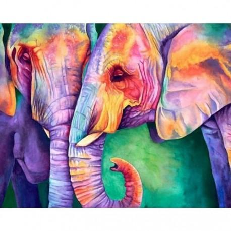 Deimantinis paveikslas Wisdom of Elephants AZ-1385 Dydis: 50х40
