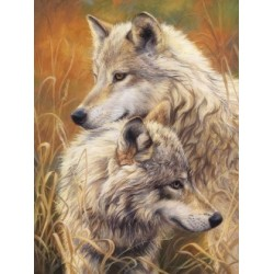 Diamond painting kit Wolf Tendernes AZ-1403