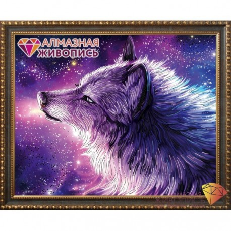 Deimantinis paveikslas Spirit of the Wolf AZ-3021 Dydis: 50х40