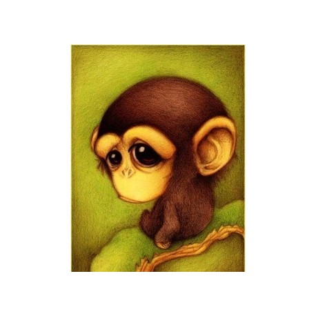 Deimantinis paveikslas Monkey AZ-358 Dydis: 25x30
