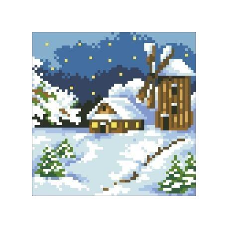 Deimantinis paveikslas House in the Snow AZ-408 Dydis: 15х15
