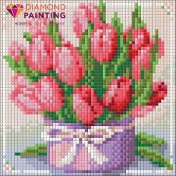 Deimantinis paveikslas Tulips Present AZ-1449 Dydis: 15х15