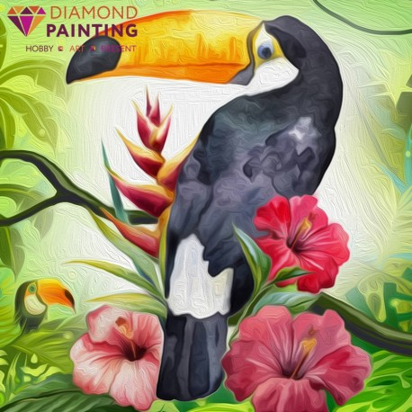 Diamond painting Exotic Toucan AZ-1490 Size: 20х20