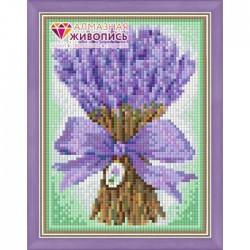 Deimantinis paveikslas Lavanda Bouquet AZ-1447 Dydis: 15х20