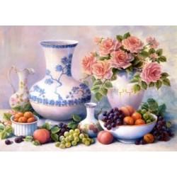 Deimantinis paveikslas Still Life with Roses AZ-105 Dydis: 45х65