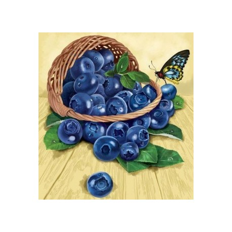 Deimantinis paveikslas Blueberries in the Basket AZ-1120 Dydis: 25х27