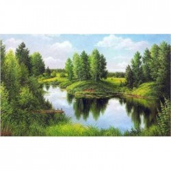 Deimantinis paveikslas Silent River AZ-1240 Dydis: 50x30