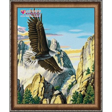 Deimantinis paveikslas Mountain Eagle AZ-1518 Dydis: 40х50