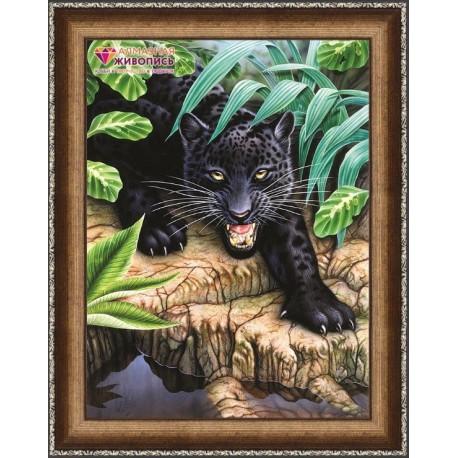 Deimantinis paveikslas Black Panther AZ-1522 Dydis: 30х40