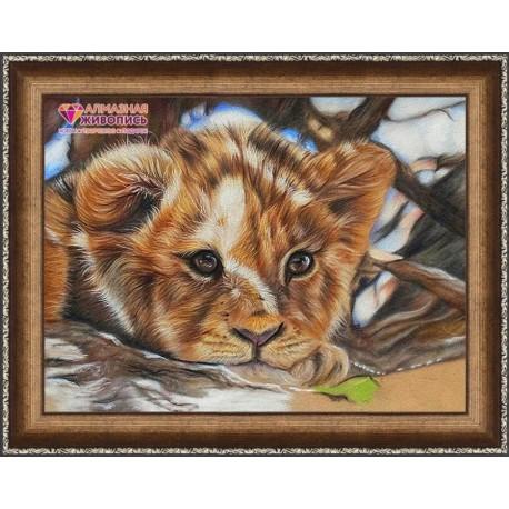 Deimantinis paveikslas Little Lion AZ-1524 Dydis: 40х30