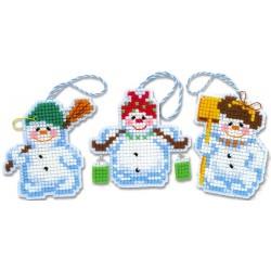 Christmas Tree Decoration Snowmen siuvinėjimo rinkinys iš RIOLIS Nr.: 1681AC