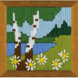 Forest Lake cross stitch kit by RIOLIS Ref. no.: 1651