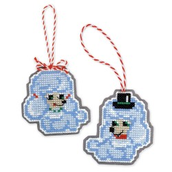 Christmas Tree Decoration Dogs cross stitch kit by RIOLIS Ref. no.: 1682AC