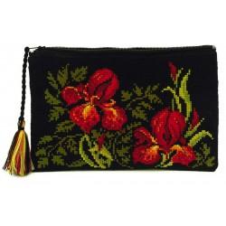 Cosmetic bag Irises cross stitch kit by RIOLIS Ref. no.: 1679AC
