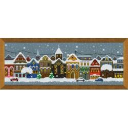 Christmas City cross stitch kit by RIOLIS Ref. no.: 1683