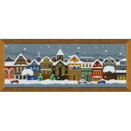 Christmas City.Christmas City Siuvinėjimo Rinkinys Is Riolis Nr 1683