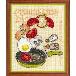 Breakfast cross stitch kit by RIOLIS Ref. no.: 1684