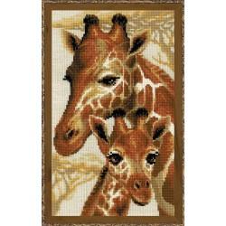 Giraffes cross stitch kit by RIOLIS Ref. no.: 1697