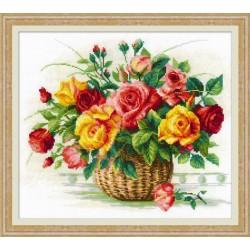 Basket With Roses siuvinėjimo rinkinys iš RIOLIS Nr.: 1722