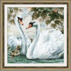 White Swans siuvinėjimo rinkinys iš RIOLIS Nr.: 1726