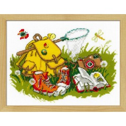 Holiday on Grass cross stitch kit by RIOLIS Ref. no.: 1718