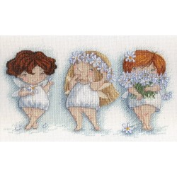 Blooming Pansies SNV-550 cross stitch kit by MP Studio