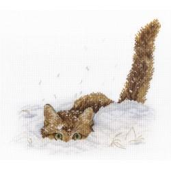 Cat in the Snow SNV-557 siuvinėjimo rinkinys iš MP Studija