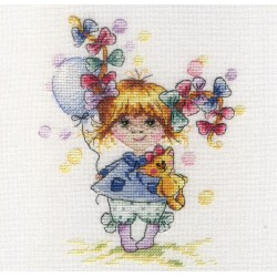 Colourful Bow SNV-601 cross stitch kit by MP Studio