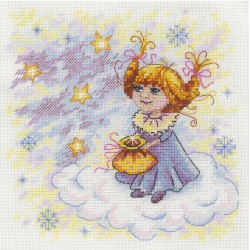 Christmas Angel SNV-607 cross stitch kit by MP Studio