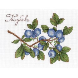 Blueberries SNV-617 cross stitch kit by MP Studio