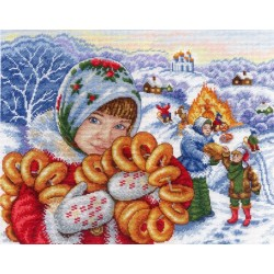 Celebration Time! Maslenitsa SNV-621 cross stitch kit by MP Studio