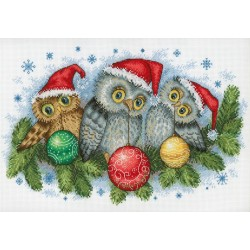 Christmas Helpers SNV-641 cross stitch kit by MP Studio
