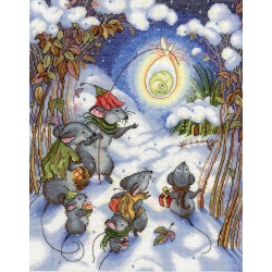 Christmas Time SNV-644 cross stitch kit by MP Studio