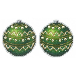 Christmas Tree Decoration - New Year Emerald SR-165 cross stitch kit by MP Studio