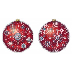 Christmas Tree Decoration - Winter Ruby SR-167 cross stitch kit by MP Studio