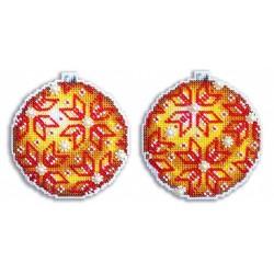 Christmas Tree Decoration - Amber SR-168 cross stitch kit by MP Studio