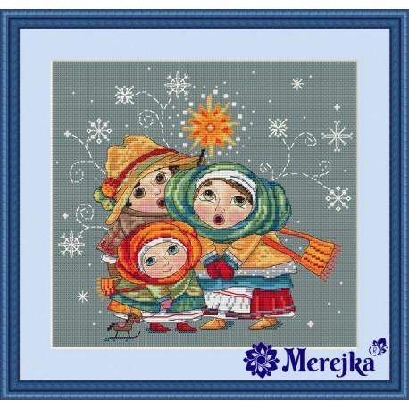 Christmas Carol SK03 siuvinėjimo rinkinys iš Merejka