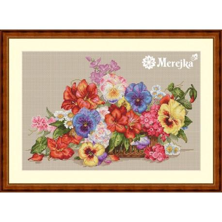 Garden Flowers SK13 siuvinėjimo rinkinys iš Merejka