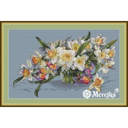 Daffodils SK14 cross stitch kit by Merejka