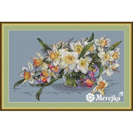 Daffodils SK14 cross stitch kit by Merejka
