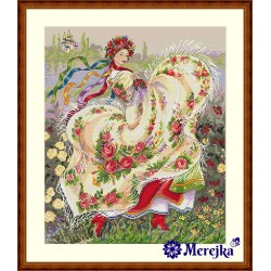 Festive Scarf SK15 cross stitch kit by Merejka