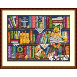 Book Shelf SK34 cross stitch kit by Merejka