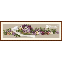 Pansy Waltz SK41 cross stitch kit by Merejka